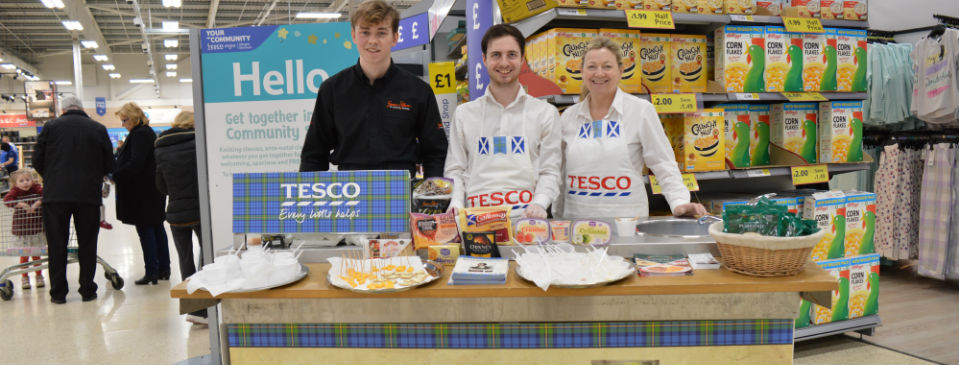 Tesco Burn's Night Experience